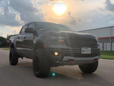 2019 Ford Ranger - 17x9 -12mm - KMC Km542 - Leveling Kit - 265/70R17