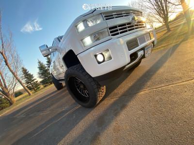 """2018 Chevrolet Silverado 2500 HD - 22x12 -51mm - ARKON OFF-ROAD Caesar - Suspension Lift 4"""" - 35"""" x 13.5"""""""