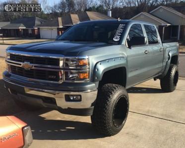 """2014 Chevrolet Silverado 1500 - 20x14 -76mm - Fuel Hostage - Suspension Lift 6"""" - 35"""" x 12.5"""""""