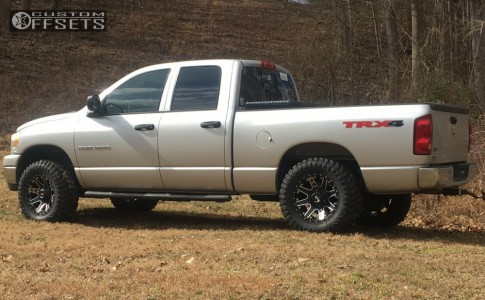 """2007 Dodge Ram 1500 - 18x9 -12mm - Red Dirt Road Rd04 - Leveling Kit - 33"""" x 12.5"""""""