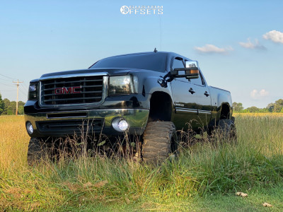 """2008 GMC Sierra 2500 HD - 20x12 -44mm - Cali Offroad Busted - Suspension Lift 12"""" - 38"""" x 15.5"""""""