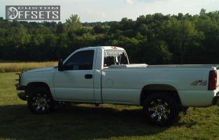2006 Chevrolet Silverado 1500 - 16x8 0mm - Race line Raptor - Stock Suspension - 265/75R16