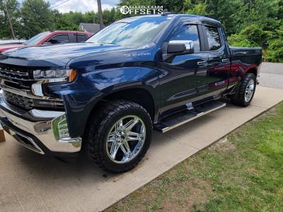"2020 Chevrolet Silverado 1500 - 20x10 -25mm - Vision Razor - Level 2"" Drop Rear - 33"" x 12.5"""