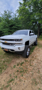 "2018 Chevrolet Silverado 1500 - 20x10 -24mm - Fuel Triton - Suspension Lift 9.5"" - 325/60R20"