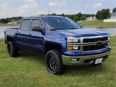 "2014 Chevrolet Silverado 1500 - 20x10 -25mm - Extreme Force Xf10 - Leveling Kit - 33"" x 12.5"""