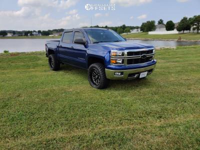 "2014 Chevrolet Silverado 1500 - 20x10 -25mm - Xtreme Force Xf10 - Leveling Kit - 33"" x 12.5"""