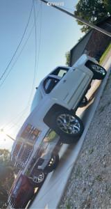 """2014 Chevrolet Silverado 1500 - 22x10 30mm - OE Replicas Flakes - Leveling Kit - 33"""" x 12.5"""""""