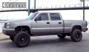 """2006 Chevrolet Silverado 1500 HD - 18x10 -24mm - XD Strike - Suspension Lift 6"""" - 35"""" x 12.5"""""""