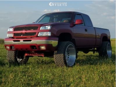 "2005 Chevrolet Silverado 1500 - 24x14 -77mm - XF Forged Xfx-305 - Suspension Lift 6"" - 33"" x 14.5"""