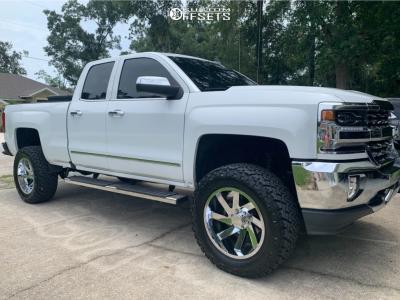 "2018 Chevrolet Silverado 1500 - 20x10 -25mm - ARKON OFF-ROAD Lincoln - Suspension Lift 7"" - 35"" x 12.5"""