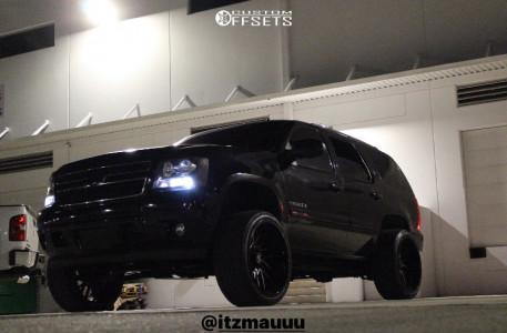 "2009 Chevrolet Tahoe - 24x12 -51mm - ARKON OFF-ROAD Mandela - Suspension Lift 5"" - 305/35R24"