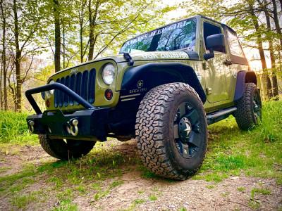 2013 Jeep Wrangler JK - 17x9 -12mm - XD Rockstar - Stock Suspension - 285/70R17