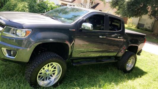 "2017 Chevrolet Colorado - 20x10 -25mm - American Force Trax Ss - Suspension Lift 6"" - 33"" x 12.5"""