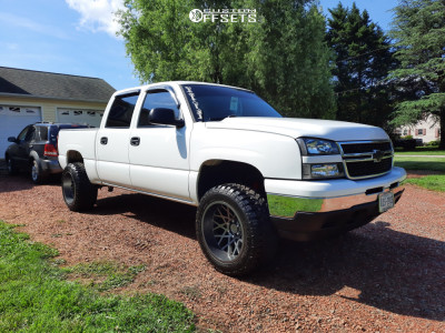 "2007 Chevrolet Silverado 1500 Classic - 20x12 -51mm - Toxic Punisher - Leveling Kit - 33"" x 12.5"""