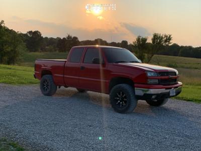 "2004 Chevrolet Silverado 1500 - 17x9 -12mm - Vision Manic - Suspension Lift 2.5"" - 33"" x 12.5"""