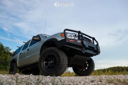 """2004 Toyota Tacoma - 17x8.5 -0mm - Icon Alloys Rebound - Suspension Lift 3"""" - 33"""" x 12.5"""""""