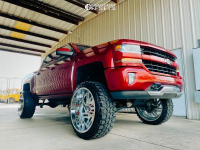 "2018 Chevrolet Silverado - 26x14 -76mm - Hardcore Offroad Hc11 - Suspension Lift 9"" - 37"" x 13.5"""