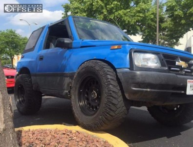 1996 Geo Tracker - 17x9 -8mm - Eagle Alloy Style 100 - Stock Suspension - 305/65R17
