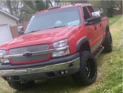"2003 Chevrolet Silverado 1500 HD - 20x12 -44mm - Tis Forged 544bm - Stock Suspension - 33"" x 12.5"""
