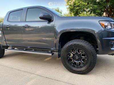 """2016 Chevrolet Colorado - 17x8.5 12mm - Black Rhino Sierra - Suspension Lift 2.5"""" - 265/70R17"""