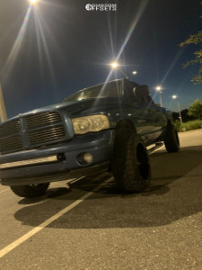 "2003 Dodge Ram 1500 - 20x14 -76mm - Moto Metal Mo402 - Suspension Lift 3"" - 33"" x 12.5"""