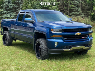 "2018 Chevrolet Silverado 1500 - 22x10 -24mm - Ballistic Rage - Stock Suspension - 33"" x 12.5"""