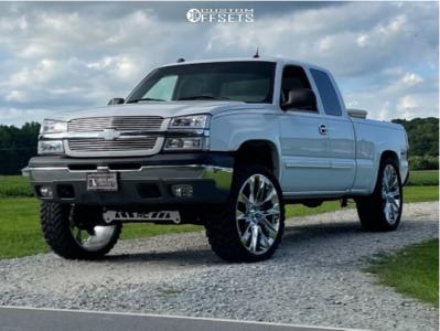 "2004 Chevrolet Silverado 1500 - 26x10 30mm - Reps C17 - Suspension Lift 4"" - 35"" x 13.5"""