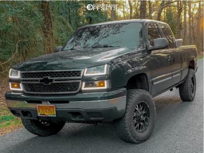 "2006 Chevrolet Silverado 1500 - 18x9 0mm - Dropstar 645mb - Suspension Lift 4"" - 33"" x 9.5"""