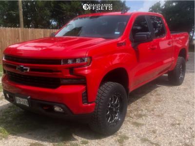 "2021 Chevrolet Silverado 1500 - 20x9 1mm - Fuel Titan - Suspension Lift 4"" - 33"" x 12.5"""
