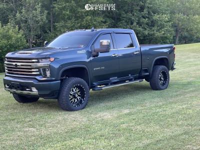 "2020 Chevrolet Silverado 2500 HD - 20x10 -25mm - TIS 544mb - Stock Suspension - 35"" x 12.5"""