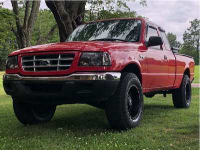 """2002 Ford Ranger - 17x9 0mm - TIS 549b - Leveling Kit - 32"""" x 10.5"""""""