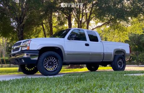 "2003 Chevrolet Silverado 1500 - 20x10 -18mm - American Force Vulcan - Suspension Lift 4.5"" - 33"" x 11.5"""