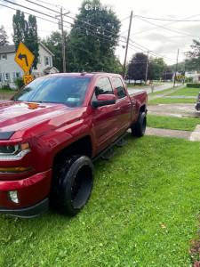 "2018 Chevrolet Silverado 1500 - 22x12 -51mm - Vision Rocker 412 - Leveling Kit - 31"" x 7.5"""