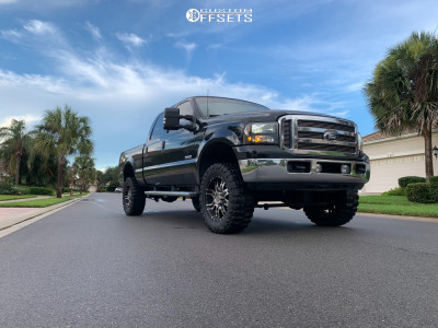 """2005 Ford F-250 Super Duty - 20x9 -12mm - Helo He835 - Suspension Lift 6"""" - 35"""" x 12.5"""""""