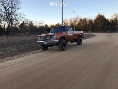 "1985 Chevrolet K20 Pickup - 18x10 -24mm - Granite Alloy Ga640 - Suspension Lift 4"" - 35"" x 12.5"""