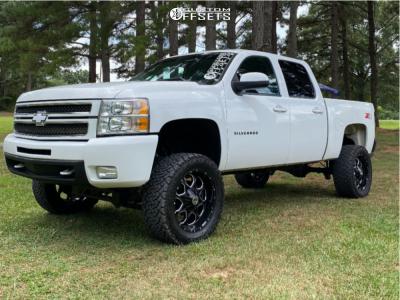 "2013 Chevrolet Silverado 1500 - 20x10 -18mm - Scorpion Sc10 - Suspension Lift 8"" - 33"" x 12.5"""