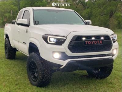 "2017 Toyota Tacoma - 18x9 -12mm - Fuel Rebel - Suspension Lift 3.5"" - 275/65R18"