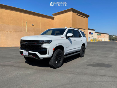 2021 Chevrolet Tahoe - 18x8.5 18mm - Black Rhino Morocco - Stock Suspension - 275/75R18