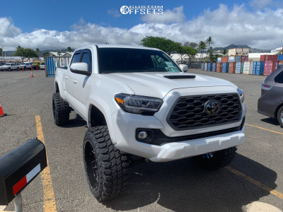 """2021 Toyota Tacoma - 22x12 -44mm - Wicked Offroad W903 - Suspension Lift 8"""" - 35"""" x 12.5"""""""