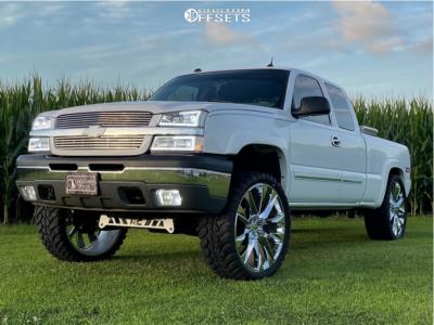 """2004 Chevrolet Silverado 1500 - 26x10 31mm - Replica C17 - Suspension Lift 4"""" - 35"""" x 13.5"""""""