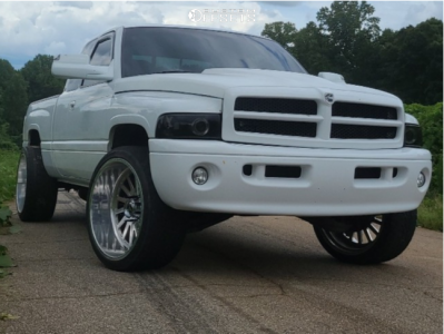 """1999 Dodge Ram 2500 - 24x12 -44mm - Fuel Forged Ff16 - Leveling Kit - 33"""" x 12.5"""""""