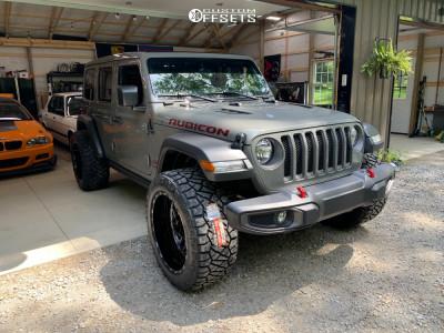 2021 Jeep Wrangler - 22x12 -44mm - TIS 544bm - Stock Suspension - 325/50R22