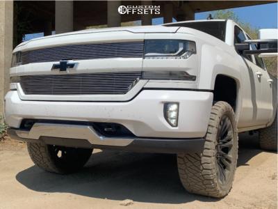 """2018 Chevrolet Silverado 1500 - 22x9 24mm - 4 Play OE Wheels CV43 - Leveling Kit - 33"""" x 12.5"""""""