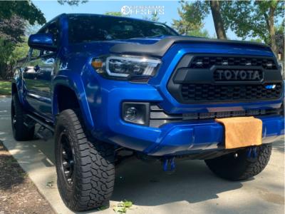 "2017 Toyota Tacoma - 18x9 1mm - Fuel Vector - Suspension Lift 3"" - 285/65R18"
