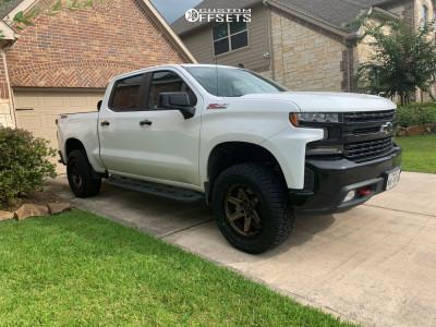 """2020 Chevrolet Silverado 1500 - 20x9 1mm - Fuel Kicker - Suspension Lift 3.5"""" - 305/55R20"""