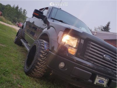 "2011 Ford F-150 - 20x12 -44mm - Hardrock Crusher - Stock Suspension - 33"" x 12.5"""
