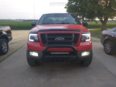 """2005 Ford F-150 - 17x9 -12mm - Fuel Stroke - Leveling Kit - 35"""" x 10.5"""""""