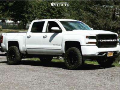 "2018 Chevrolet Silverado 1500 - 20x10 -18mm - Moto Metal Mo970 - Leveling Kit - 33"" x 12.5"""