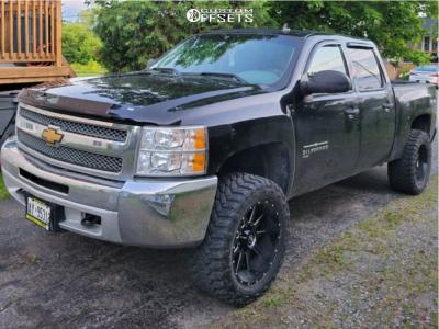 "2012 Chevrolet Silverado 1500 - 20x10 -24mm - Xf Offroad Xf-219 - Suspension Lift 4"" - 33"" x 12.5"""
