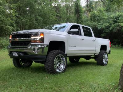 "2017 Chevrolet Silverado 1500 - 22x12 -44mm - Fuel Triton D609 - Suspension Lift 7.5"" - 35"" x 12.5"""